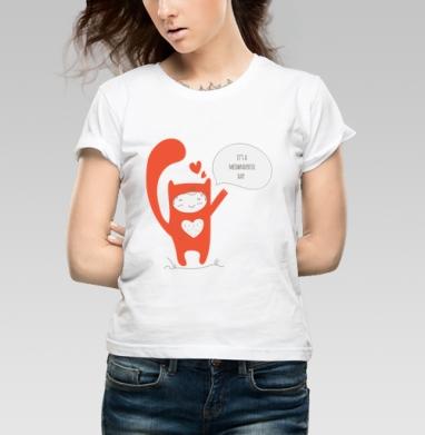 Какой чудесный день. - Купить детские футболки со смайлами в Москве, цена детских футболок со смайлами с прикольными принтами - магазин дизайнерской одежды MaryJane