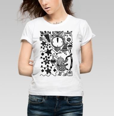 Меховые друзья - Купить детские футболки Новый год в Москве, цена детских футболок новогодних  с прикольными принтами - магазин дизайнерской одежды MaryJane