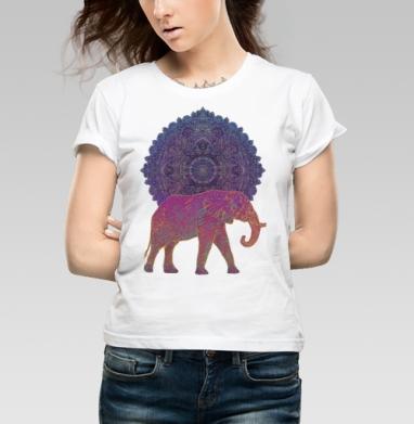 Слон и солнце - Купить детские футболки с солнцем в Москве, цена детских футболок с солнцем с прикольными принтами - магазин дизайнерской одежды MaryJane