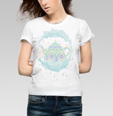 Чайничек - Купить детские футболки с дымом в Москве, цена детских футболок с дымом  с прикольными принтами - магазин дизайнерской одежды MaryJane