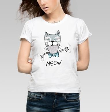 Мяу-Мяу - Купить детские футболки с рыбой в Москве, цена детских футболок с рыбой  с прикольными принтами - магазин дизайнерской одежды MaryJane