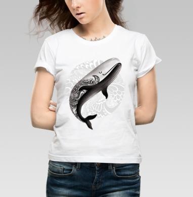 Рыба кит - Купить детские футболки с татуировками в Москве, цена детских футболок с татуировками с прикольными принтами - магазин дизайнерской одежды MaryJane