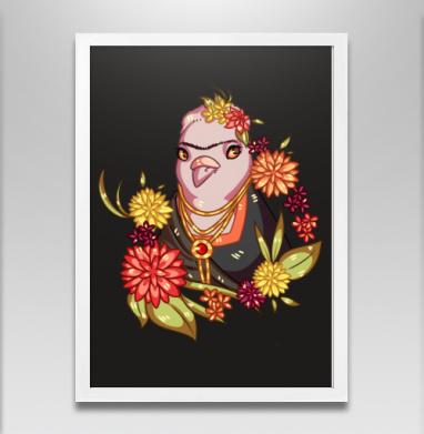 Гули в искусстве. Фрида Кало  - Постеры, птицы, Популярные