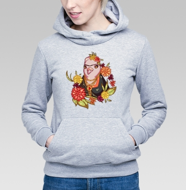Гули в искусстве. Фрида Кало  - Купить детские толстовки с птицами в Москве, цена детских толстовок с птицами  с прикольными принтами - магазин дизайнерской одежды MaryJane