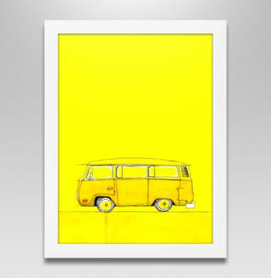 Жёлтый Автобус, Постер в белой раме