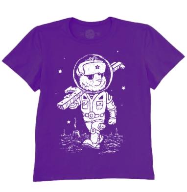 Футболка мужская темно-фиолетовая - Партизан