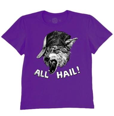 Футболка мужская темно-фиолетовая - Пати Вульф