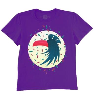 Футболка мужская темно-фиолетовая - Ночная птица