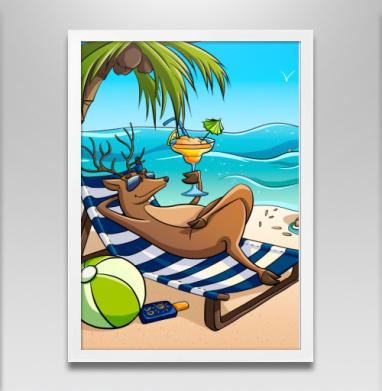 Олень на отдыхе - Постеры, любовь, Популярные