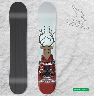 Селфи в тумане, Наклейка на сноуборд