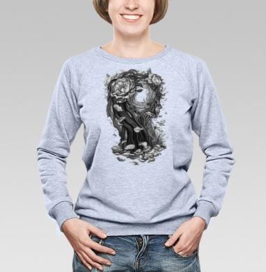 Сюрреалистическая девушка - Купить женские свитшоты с роами в Москве, цена женских свитшотов с розой с прикольными принтами - магазин дизайнерской одежды MaryJane