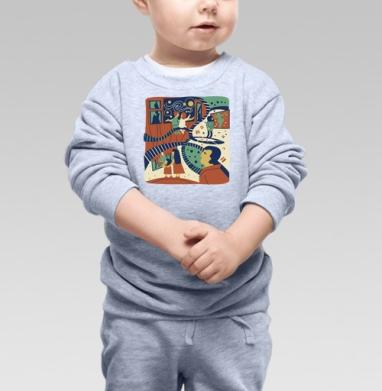 Приглашаю в музей - Купить детские свитшоты абстрактные в Москве, цена детских свитшотов абстрактных  с прикольными принтами - магазин дизайнерской одежды MaryJane
