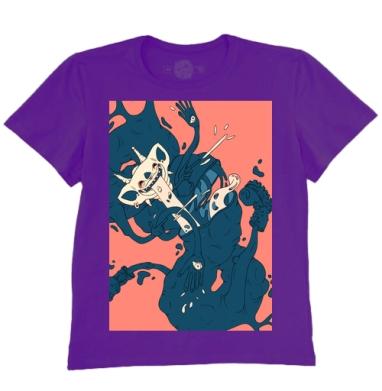Футболка мужская темно-фиолетовая, темно-фиолетовые - Интернет магазин футболок №1 в Москве