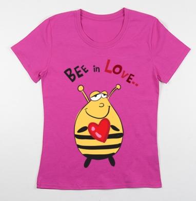 Футболка женская фуксия - Bee in Love