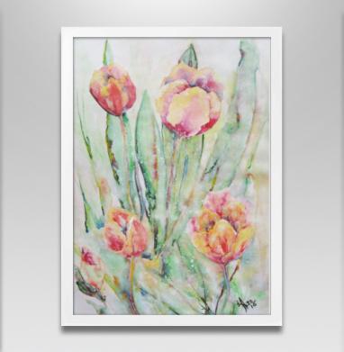 Тюльпаны. Жаркий полдень - Постеры, пейзаж, Популярные