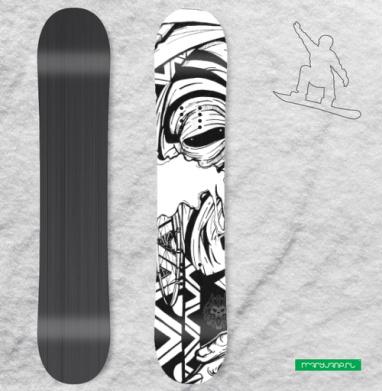 Наклейка на сноуборд