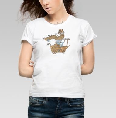 Морская - Купить детские футболки с пиратом в Москве, цена детских футболок пиратских с прикольными принтами - магазин дизайнерской одежды MaryJane