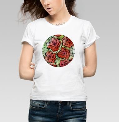 Розы - Купить детские футболки с роами в Москве, цена детских футболок с розой с прикольными принтами - магазин дизайнерской одежды MaryJane