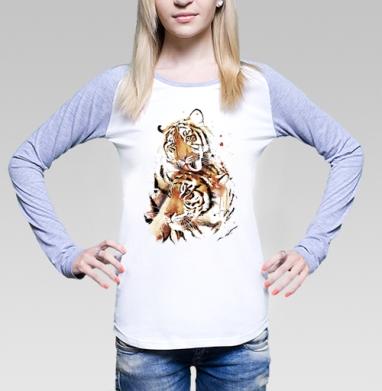 Влюбленные тигры - Футболки с длинным рукавом женские