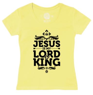Футболка женская желтая - Иисус - Царь и Господь
