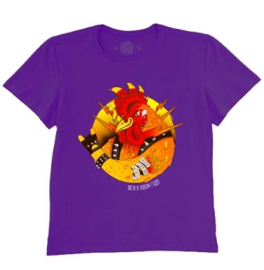 Футболка мужская темно-фиолетовая - Жги в новом году