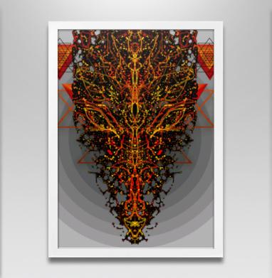 Дух Агнилис - Постер в белой раме, aбстрактные