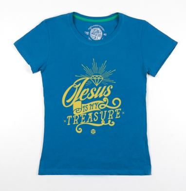 Футболка женская волна 200гр - Иисус - мое сокровище