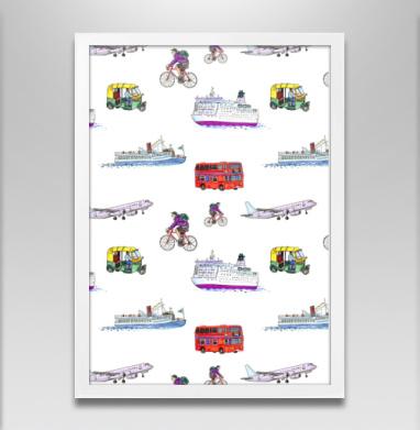 Путешествия - Постеры, велосипед, Популярные