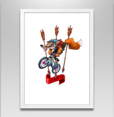 МТБ - Постер в белой раме, велосипед