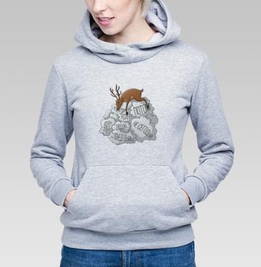 Олень и дэдлайн - Купить детские толстовки с животными в Москве, цена детских толстовок с животными  с прикольными принтами - магазин дизайнерской одежды MaryJane
