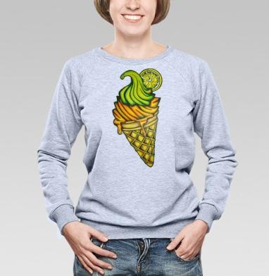 Мороженное - Купить детские свитшоты с фруктами в Москве, цена детских свитшотов с фруктами  с прикольными принтами - магазин дизайнерской одежды MaryJane