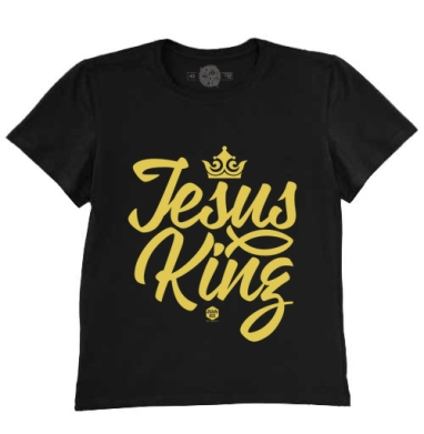 Футболка мужская чёрная - Иисус царь