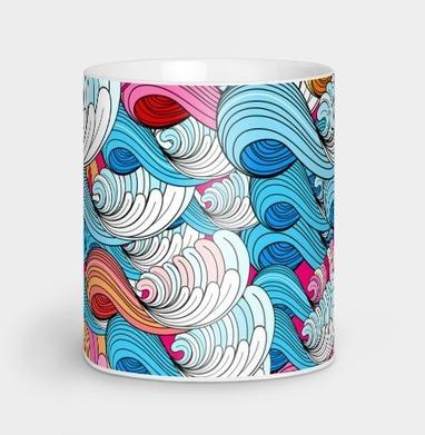 Морские абстрактные волны - узор, Новинки