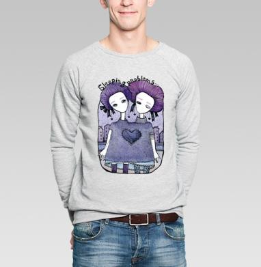Проблемы со сном  - Купить мужские свитшоты с илюстрациями в Москве, цена мужских свитшотов с илюстрациями  с прикольными принтами - магазин дизайнерской одежды MaryJane