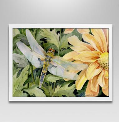 Легкие крылья - Постер в белой раме