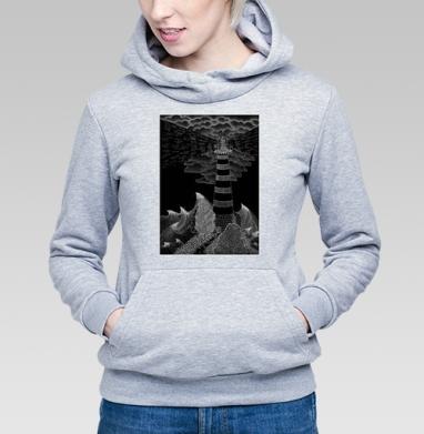 Маяк бури, Толстовка Женская серый меланж 340гр, теплая
