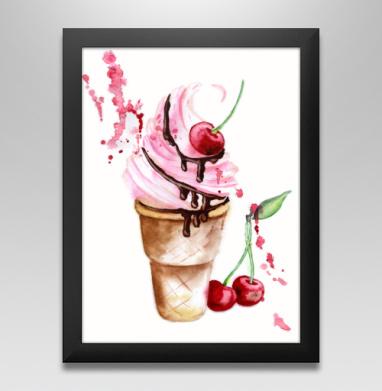 Мороженое с вишенкой, Постер в чёрной раме