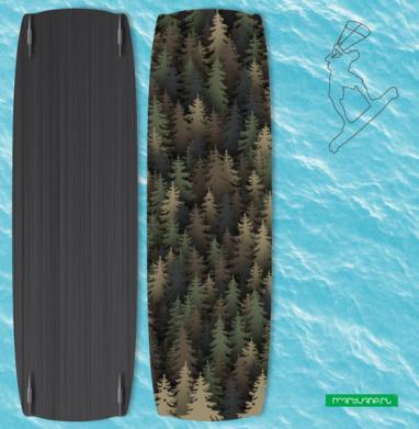 Лесной камуфляж - Наклейки на кайтсерфинг/вэйк