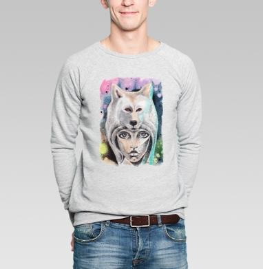 Волкчикса - Купить мужские свитшоты с акварелью в Москве, цена мужских свитшотов с акварелью  с прикольными принтами - магазин дизайнерской одежды MaryJane