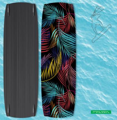 Разноцветные листья пальмы - Наклейки на кайтсерфинг/вэйк
