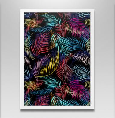 Разноцветные листья пальмы - Постеры, космос, Популярные