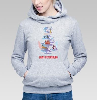 Санкт-Петербург - Купить детские толстовки Россия в Москве, цена детских толстовок Россия  с прикольными принтами - магазин дизайнерской одежды MaryJane