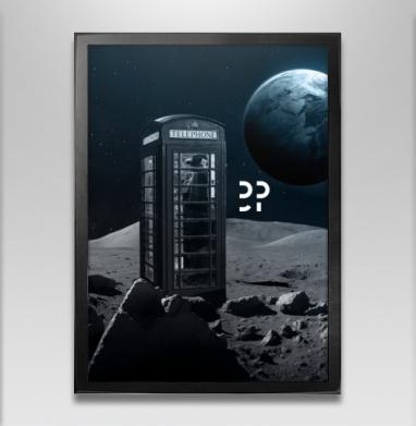 Космос - Постер в чёрной раме