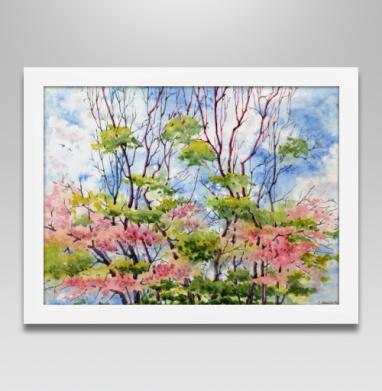 Аромат весны - Постер в белой раме