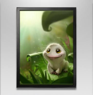 Лягушка выздоровела - Постер в чёрной раме