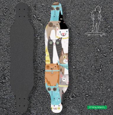 Многокотов - Наклейки на лонгборд