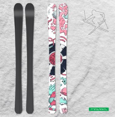 Безумие - Наклейки на лыжи