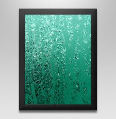 Бирюзовые кристаллы - Купить постеры в москве