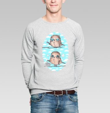 Пташки - работяжки - Купить мужские свитшоты с птицами в Москве, цена мужских свитшотов с птицами  с прикольными принтами - магазин дизайнерской одежды MaryJane
