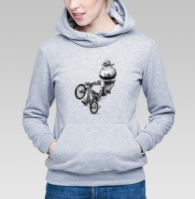 МТБ, Толстовка Женская серый меланж 340гр, теплая